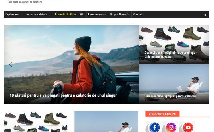 nomadia travel web design